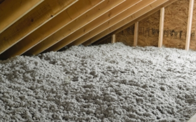 Attic with TAP® Pest Control Insulation Installed