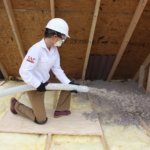 Installing TAP Pest Control Insulation