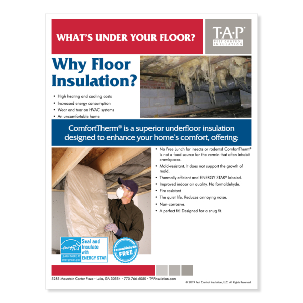 What's Under Your Floor? (WUYF) Customizable Marketing Flyer