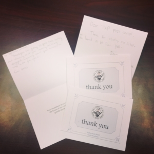 HNGA Thank You Cards
