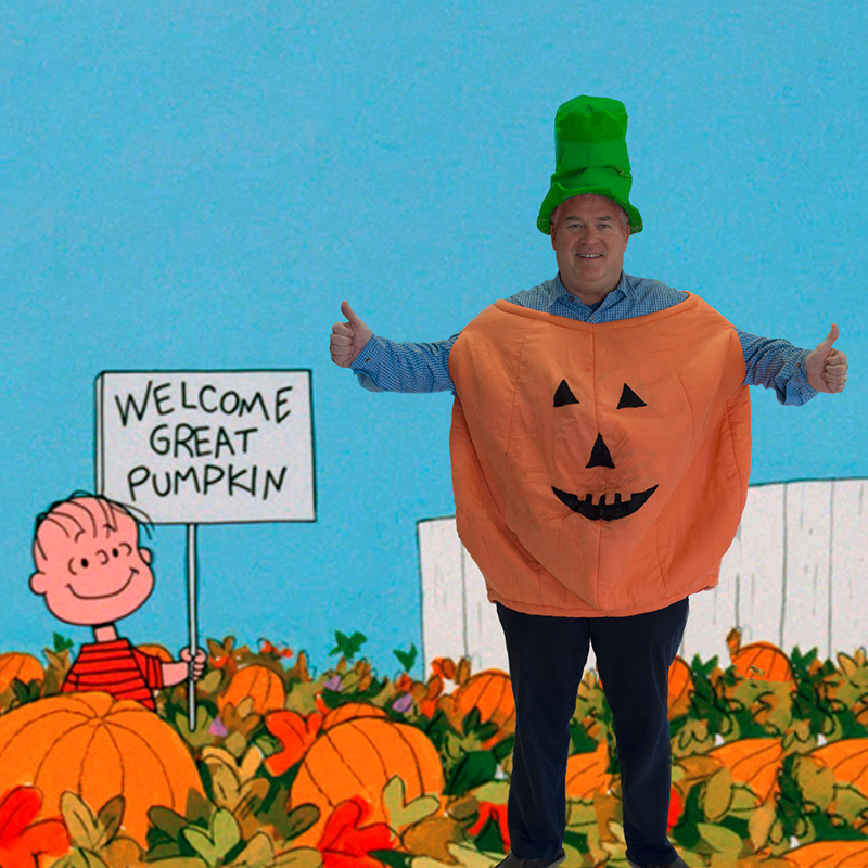 Bill as the Great Pumpkin