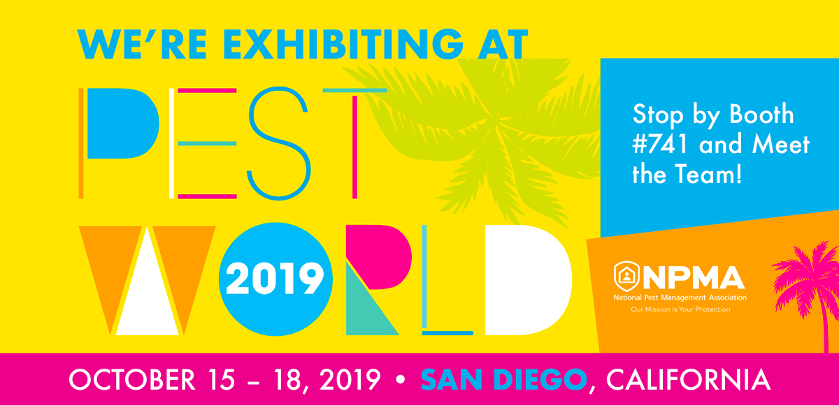 We are attending PestWorld 2019 in San Diego, CA, from October 15-18! Stop by Booth #741 to meet the TAP Team.